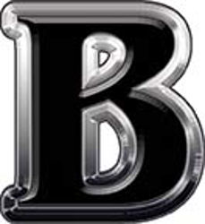 Reflective Letter B from www.westonink.com