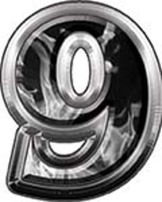 Reflective Number 9 from www.westonink.com