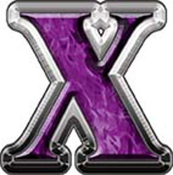 Reflective Letter X from www.westonink.com
