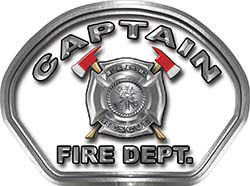 Captain Fire Fighter, EMS, Rescue Helmet Face Decal Reflective in White