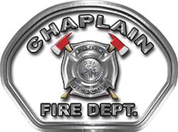 Chaplain Fire Fighter, EMS, Rescue Helmet Face Decal Reflective in White