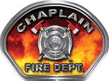 Chaplain Fire Fighter, EMS, Rescue Helmet Face Decal Reflective in Real Fire