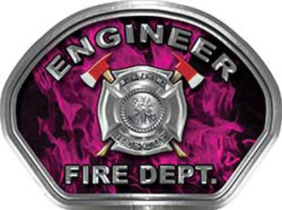 Explorer Fire Fighter, EMS, Rescue Helmet Face Decal Reflective in Inferno Pink