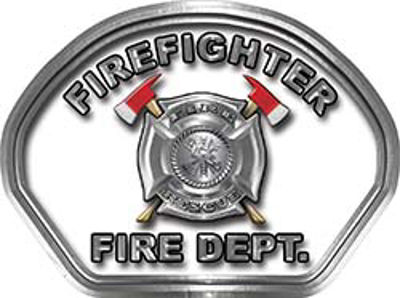 Firefighter Fire Fighter, EMS, Rescue Helmet Face Decal Reflective in White