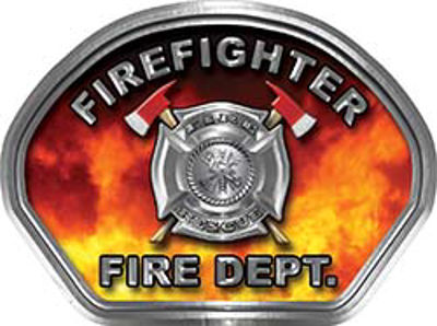 Firefighter Fire Fighter, EMS, Rescue Helmet Face Decal Reflective in Real Fire