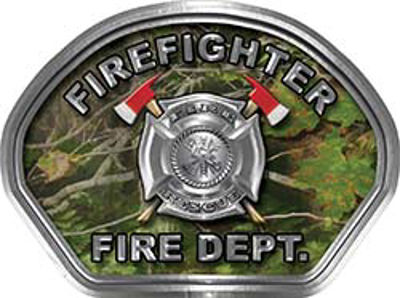 Firefighter Fire Fighter, EMS, Rescue Helmet Face Decal Reflective in Real Camo