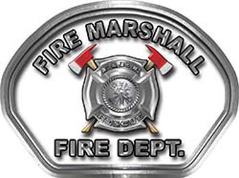 Fire Marshall Fire Fighter, EMS, Rescue Helmet Face Decal Reflective in White
