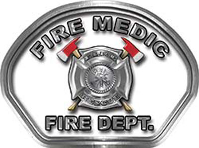 Fire Medic Fire Fighter, EMS, Rescue Helmet Face Decal Reflective in White