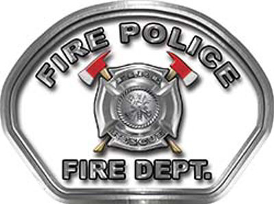 Fire Police Fire Fighter, EMS, Rescue Helmet Face Decal Reflective in White