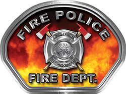 Fire Police Fire Fighter, EMS, Rescue Helmet Face Decal Reflective in Real Fire