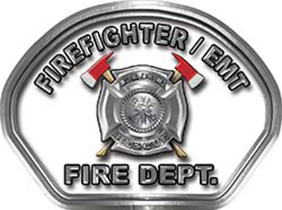 Firefighter EMT Fire Fighter, EMS, Rescue Helmet Face Decal Reflective in White