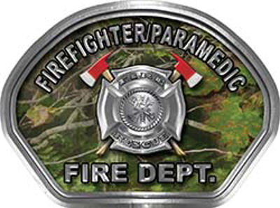 Firefighter PARAMEDIC Fire Fighter, EMS, Rescue Helmet Face Decal Reflective in Real Camo