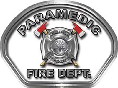 Paramedic Fire Fighter, EMS, Rescue Helmet Face Decal Reflective in White