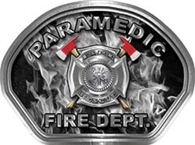 Paramedic Fire Fighter, EMS, Rescue Helmet Face Decal Reflective in Inferno Gray