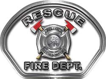 Rescue Fire Fighter, EMS, Rescue Helmet Face Decal Reflective in White