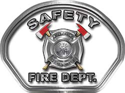 Safety Fire Fighter, EMS, Safety Helmet Face Decal Reflective in White