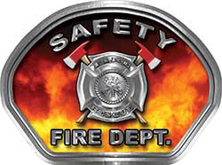 Safety Fire Fighter, EMS, Safety Helmet Face Decal Reflective in Real Fire