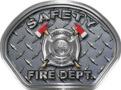 Safety Fire Fighter, EMS, Safety Helmet Face Decal Reflective With Diamond Plate