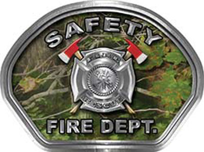 Safety Fire Fighter, EMS, Safety Helmet Face Decal Reflective in Real Camo