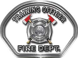 Training Officer Fire Fighter, EMS, Rescue Helmet Face Decal Reflective in White