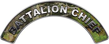 Battalion Chief Fire Fighter, EMS, Rescue Helmet Arc / Rockers Decal Reflective in Camo