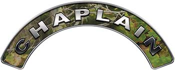Chaplain Fire Fighter, EMS, Rescue Helmet Arc / Rockers Decal Reflective in Camo