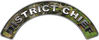 District Chief Fire Fighter, EMS, Rescue Helmet Arc / Rockers Decal Reflective in Camo