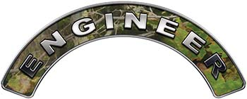 Engineer Fire Fighter, EMS, Rescue Helmet Arc / Rockers Decal Reflective in Camo