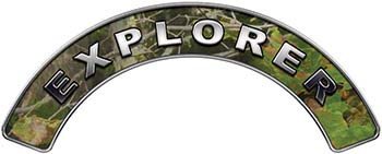 Explorer Fire Fighter, EMS, Rescue Helmet Arc / Rockers Decal Reflective in Camo