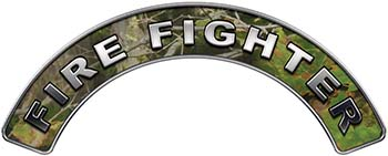 Firefighter Fire Fighter, EMS, Rescue Helmet Arc / Rockers Decal Reflective in Camo