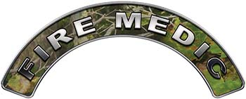 Fire Medic Fire Fighter, EMS, Rescue Helmet Arc / Rockers Decal Reflective in Camo
