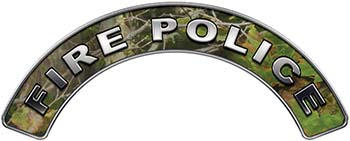 Fire Police Fire Fighter, EMS, Rescue Helmet Arc / Rockers Decal Reflective in Camo