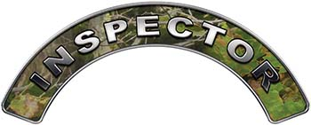 Inspector Fire Fighter, EMS, Rescue Helmet Arc / Rockers Decal Reflective in Camo