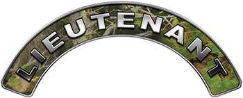 Lieutenant Fire Fighter, EMS, Rescue Helmet Arc / Rockers Decal Reflective in Camo