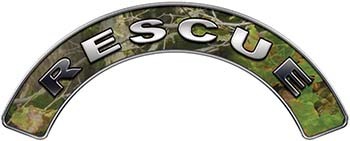 RESCUE Fire Fighter, EMS, Rescue Helmet Arc / Rockers Decal Reflective in Camo