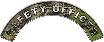 Safety Officer Fire Fighter, EMS, Rescue Helmet Arc / Rockers Decal Reflective in Camo