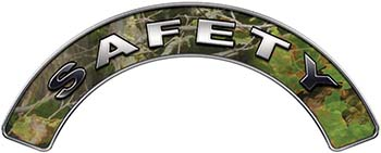 Safety Fire Fighter, EMS, Rescue Helmet Arc / Rockers Decal Reflective in Camo