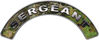 Sergeant Fire Fighter, EMS, Rescue Helmet Arc / Rockers Decal Reflective in Camo