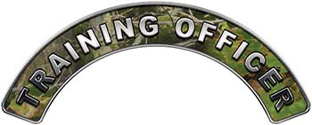 Training Officer Fire Fighter, EMS, Rescue Helmet Arc / Rockers Decal Reflective in Camo