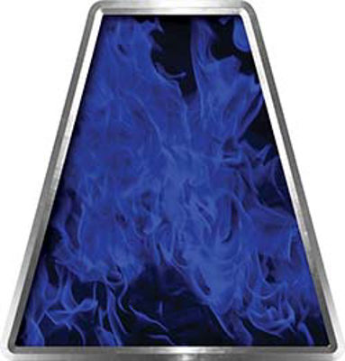 Fire Fighter, EMS, Rescue Helmet Tetrahedron Decal Reflective in Inferno Blue
