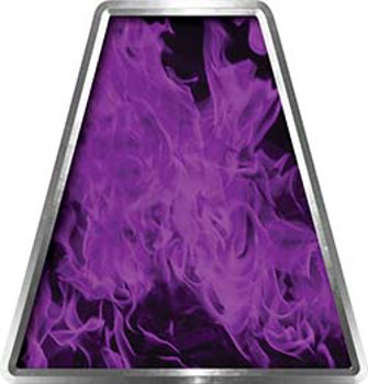 Fire Fighter, EMS, Rescue Helmet Tetrahedron Decal Reflective in Inferno Purple