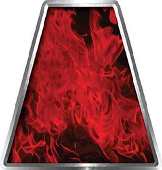 Fire Fighter, EMS, Rescue Helmet Tetrahedron Decal Reflective in Inferno Red