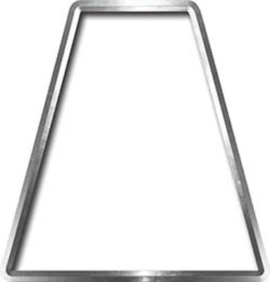 Fire Fighter, EMS, Rescue Helmet Tetrahedron Decal Reflective in White
