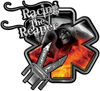 Racing the Reaper Fire Rescue EMS Decal with Extrication Tools in Fire