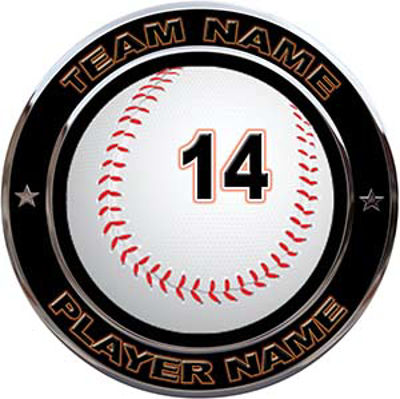 Custom Team Sports Decal with Name and School with Baseball