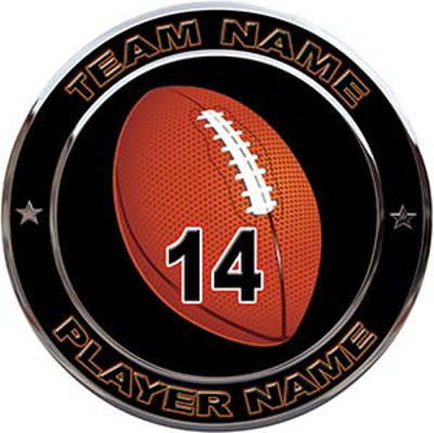 Custom Team Sports Decal with Name and School with Football