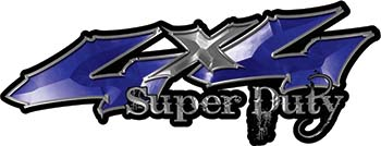 Super Duty Twisted Series 4x4 Truck Bedside or Fender Emblem Decals in Blue