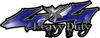 Heavy Duty Twisted Series 4x4 Truck Bedside or Fender Emblem Decals in Blue