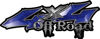 Off Road Twisted Series 4x4 Truck Bedside or Fender Emblem Decals in Blue