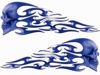 Tribal Style Evil Skull Flame Graphics in Blue